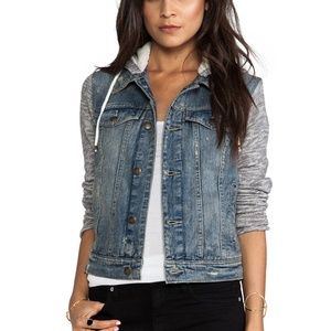Free People Denim/Knit Hoodie Jackie